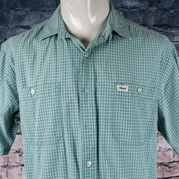 Polo by Ralph Lauren Other - Polo Sport Short Sleeve Button Plaid Large